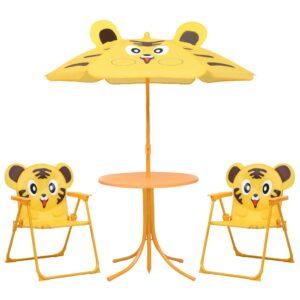 3-osaline laste aiamööblikomplekt päevavarjuga