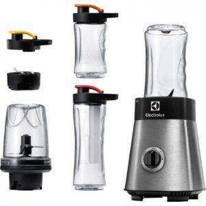 Blender Electrolux, 3 kaasavõetavat joogipudelit, jahutuspulk, 400 W, rv teras, Electrolux