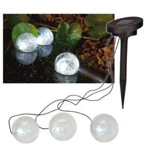 HI päikesepatereidega LED-ujuvvalgusti 9 cm