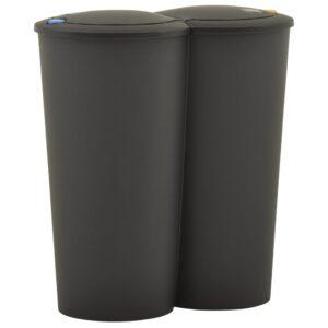 kahe konteineriga prügikast