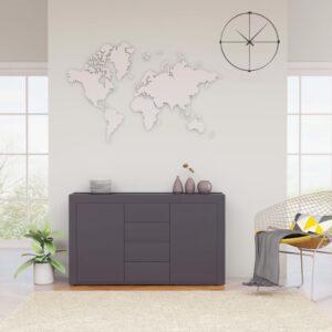 puhvetkapp kõrgläikega hall 120 x 36 x 69 cm