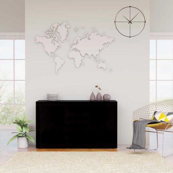 puhvetkapp kõrgläikega must 120 x 36 x 69 cm