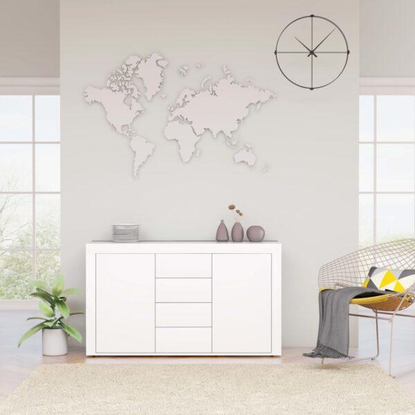 puhvetkapp kõrgläikega valge 120 x 36 x 69 cm