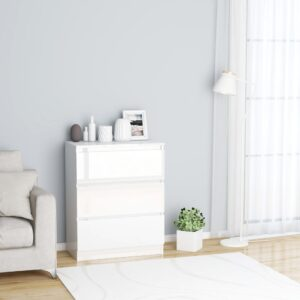 puhvetkapp kõrgläikega valge 60 x 35 x 76 cm