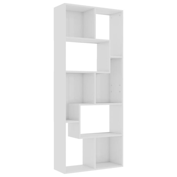 kõrgläikega valge 67 x 24 x 161 cm puitlaastplaat