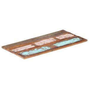 ristkülikukujuline lauaplaat 60x100 cm 25–27 mm taastatud puit