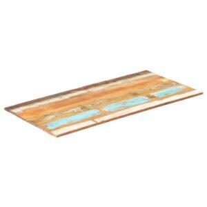 ristkülikukujuline lauaplaat 60x120 cm 15–16 mm taastatud puit
