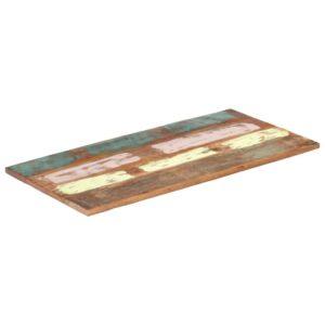 ristkülikukujuline lauaplaat 60x120 cm 25–27 mm taastatud puit