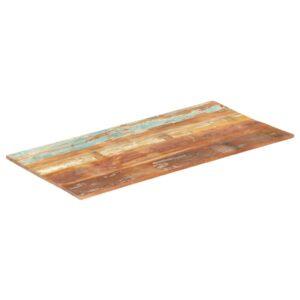 ristkülikukujuline lauaplaat 60x140 cm 15–16 mm taastatud puit