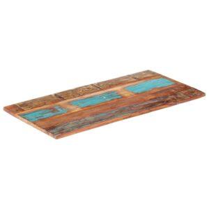 ristkülikukujuline lauaplaat 60x140 cm 25–27 mm taastatud puit