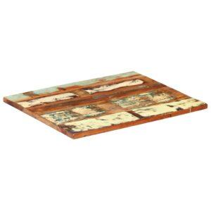 ristkülikukujuline lauaplaat 60x70 cm 25–27 mm taastatud puit
