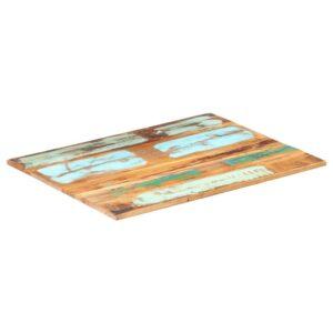 ristkülikukujuline lauaplaat 60x80 cm 15–16 mm taastatud puit