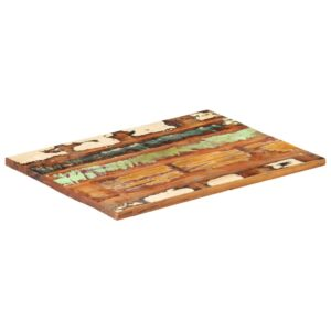 ristkülikukujuline lauaplaat 60x80 cm 25–27 mm taastatud puit