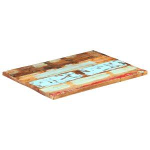 ristkülikukujuline lauaplaat 60x90 cm 25–27 mm taastatud puit