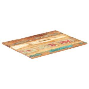 ristkülikukujuline lauaplaat 70x80 cm 15–16 mm taastatud puit