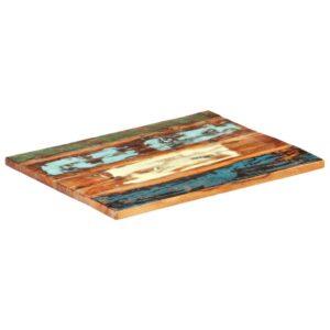 ristkülikukujuline lauaplaat 70x80 cm 25–27 mm taastatud puit
