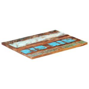 ristkülikukujuline lauaplaat 70x90 cm 25–27 mm taastatud puit