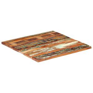 ruudukujuline lauaplaat 80x80 cm 25–27 mm taaskasutatud puit