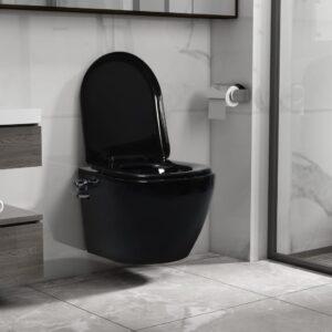 seinale kinnitatav ääreta bideefunktsiooniga tualettpott must