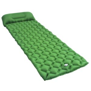 õhkmadrats padjaga 58 x 190 cm roheline