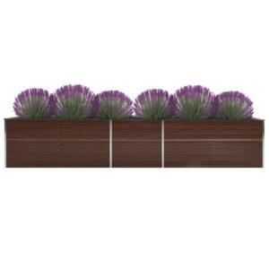 aia taimelava tsingitud teras 400 x 80 x 45 cm pruun