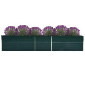 aia taimelava tsingitud teras 400 x 80 x 45 cm roheline