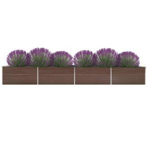aia taimelava tsingitud teras 600 x 80 x 45 cm pruun