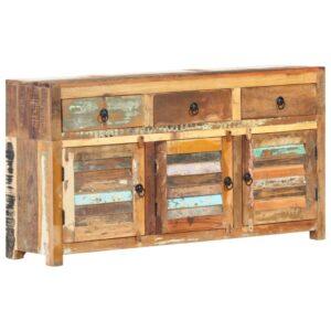 puhvetkapp 120 x 30 x 65 cm toekast taastatud puidust