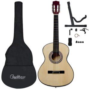 """12-osaline klassikalise kitarri komplekt algajatele 4/4 39"""""""