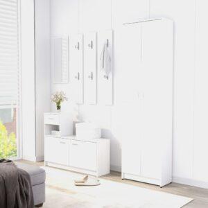 esiku garderoob valge 55 x 25 x 189 cm puitlaastplaat