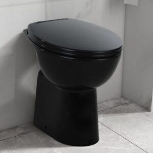 kõrge ääreta keraamiline tualettpott