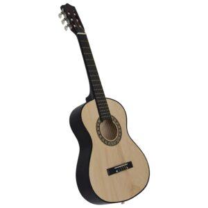 """klassikaline kitarr algajatele ja lastele 1/2 34"""" Ameerika pärn"""