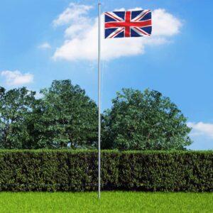 Ühendkuningriigi lipp ja lipumast