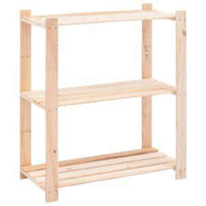 3-korruseline hoiuriiul 80 x 38 x 90 cm männipuit 150 kg