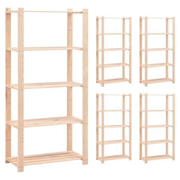 5-korruselised hoiuriiulid