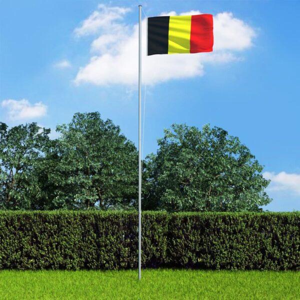 Belgia lipp ja lipumast