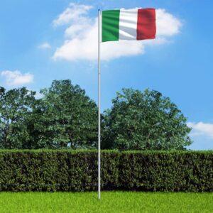 Itaalia lipp ja lipumast