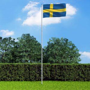 Rootsi lipp ja lipumast