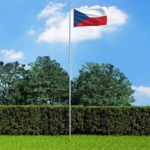 Tšehhi Vabariigi lipp ja lipumast