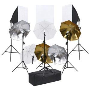 fotostuudio komplekt valgustuskomplekti ja softboxidega