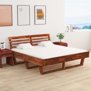 kahe öökapiga akaatsiapuidust voodiraam 180 x 200 cm