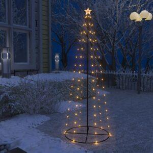 koonusekujuline jõulupuu 100 sooja valget LEDi