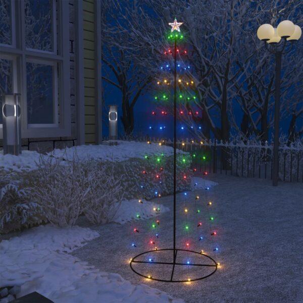 koonusekujuline jõulupuu 100 värvilist LEDi