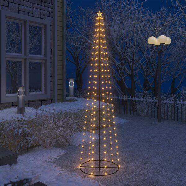 koonusekujuline jõulupuu 136 sooja valget LEDi
