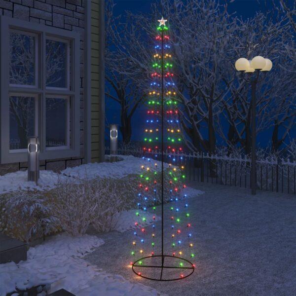 koonusekujuline jõulupuu 136 värvilist valget LEDi