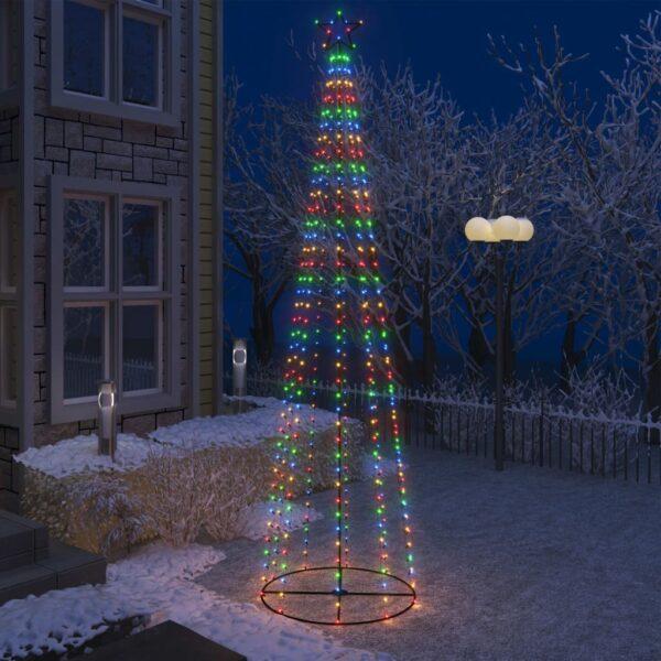 koonusekujuline jõulupuu 400 värvilist LEDi