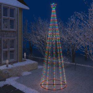 koonusekujuline jõulupuu 752 värvilist LEDi