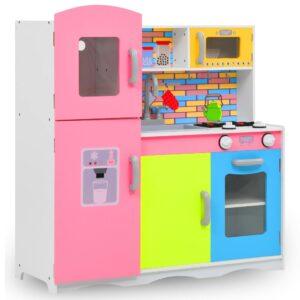 laste mänguköök MDF 80 x 30 x 85 cm värviline