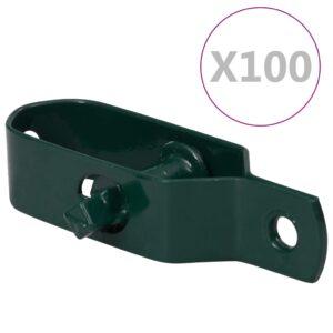 piirdeaia pingutid 100 tk 100 mm terasest roheline