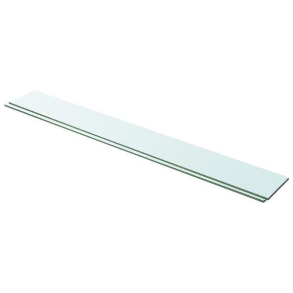 riiulid 2 klaasist paneeli 100 x 12 cm